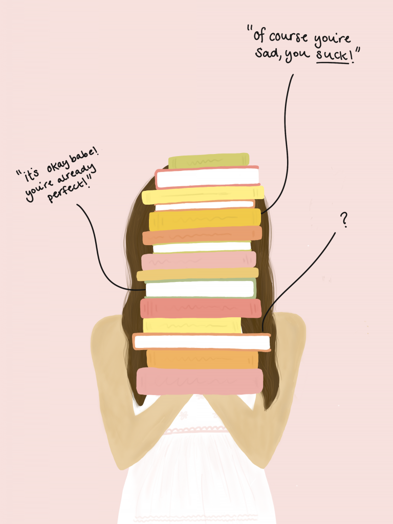 Self Help Book Illustration